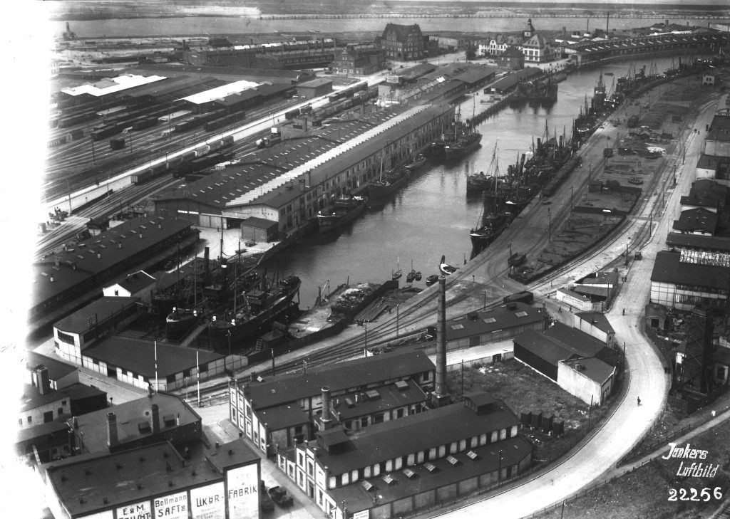 Historische Ansicht des Fischereihafens Bremerhaven