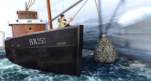 Fischkutter Fangnetz