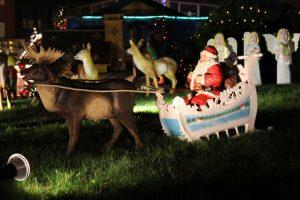 Weihnachtsmann Kutsche Rentier