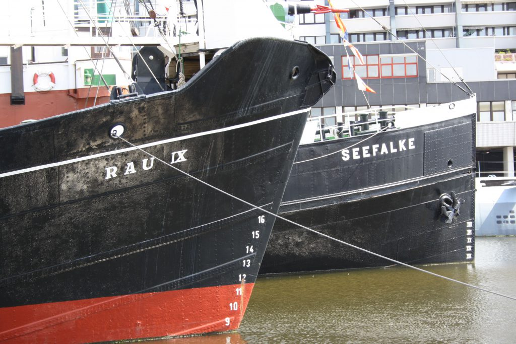 """Schiffsbug der """"Rau IX"""""""