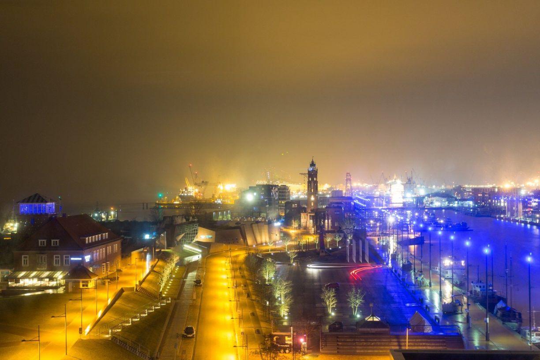 Blick auf Bremerhaven Neuer Hafen