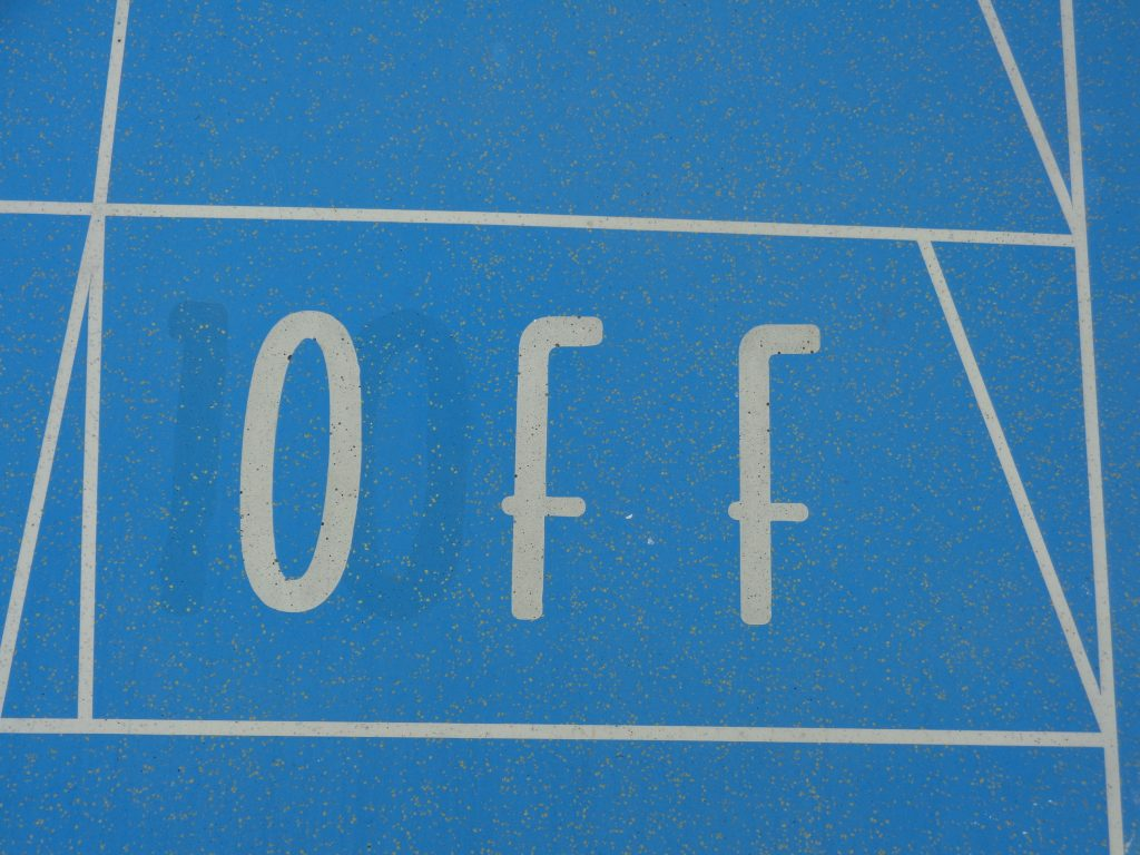 Shufflebordfeld auf dem Außendeck