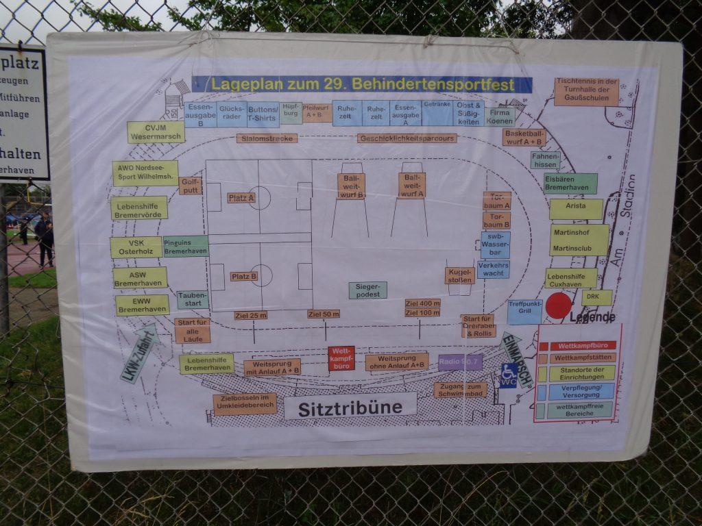 Stadionplan des 29. Behindertensportfests Bremerhaven (c) Tanja Albert