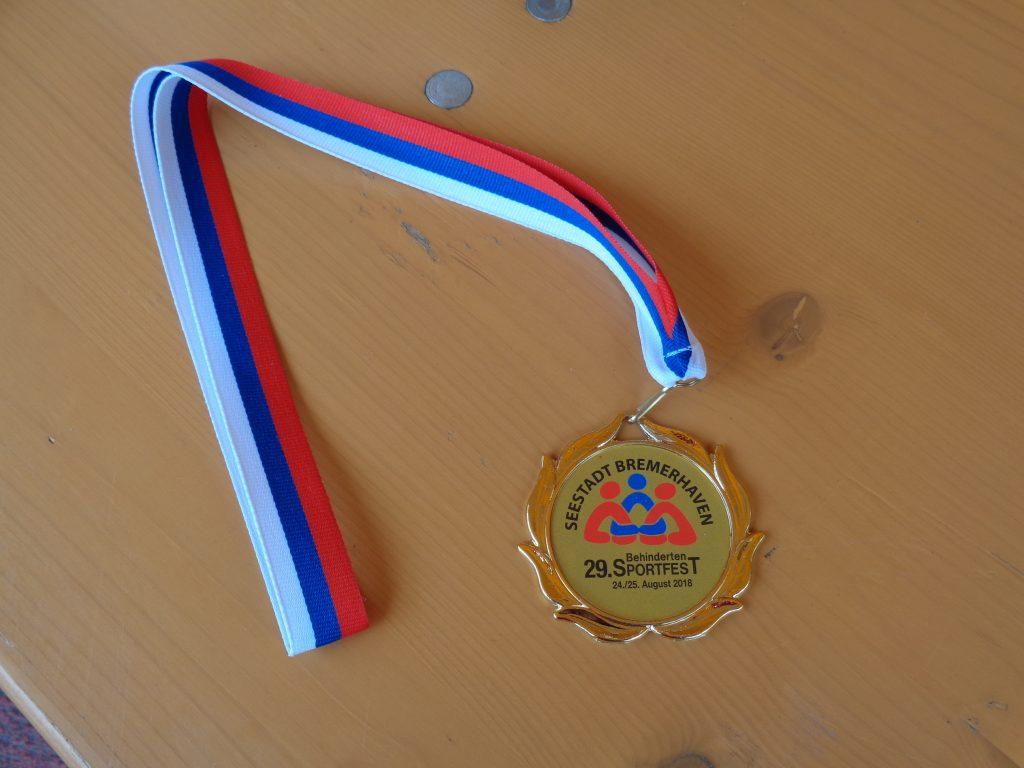 Medaille beim 29. Behindertensportfest (c) Tanja Albert