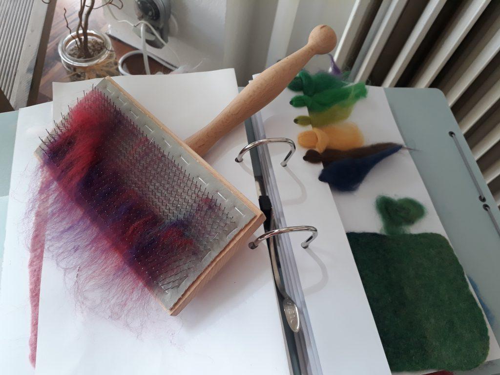 Eine Kade im Atelier Filzblau beim Tag des offenen Ateliers (c) Tanja Albert