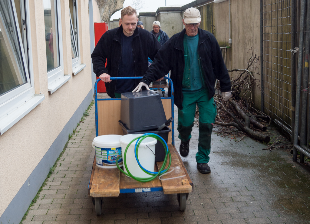 Transport der Scholle