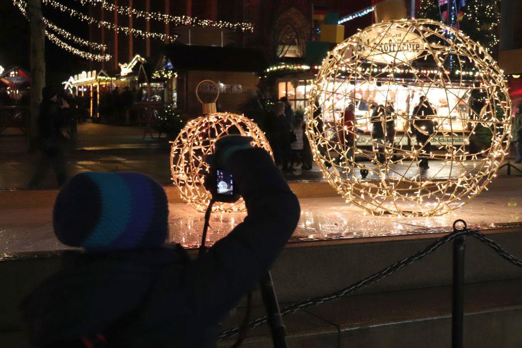 Fotograf auf Bremerhavener Weihnachtsmarkt