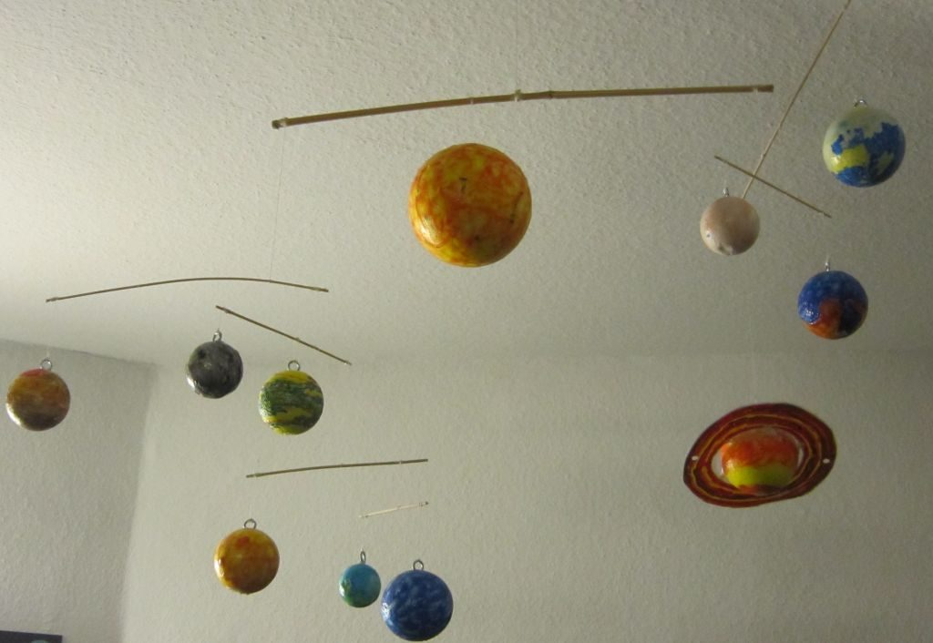 Buntes Planetenmodell im Planetarium Bremerhaven (c) Tanja Albert