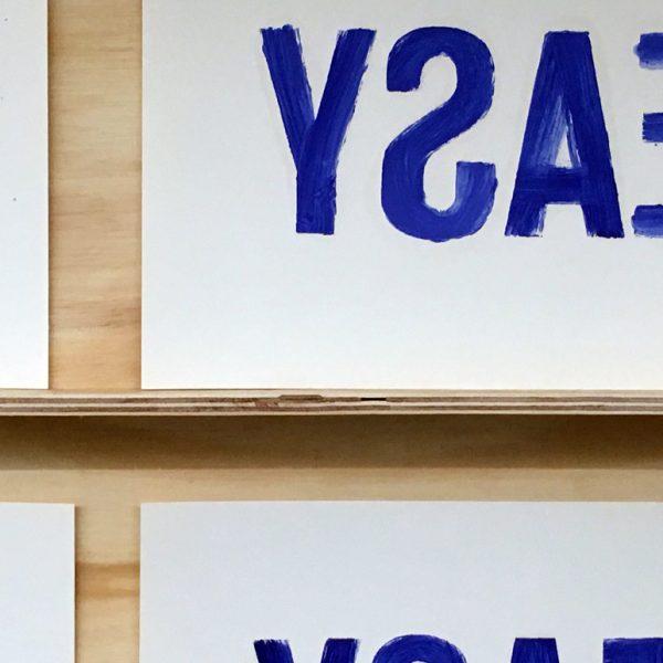 """Detail: Sebastian Dannenberg, """"EASY"""" edition in der Kunsthalle Bremerhaven (c) Cecilia Uckert"""