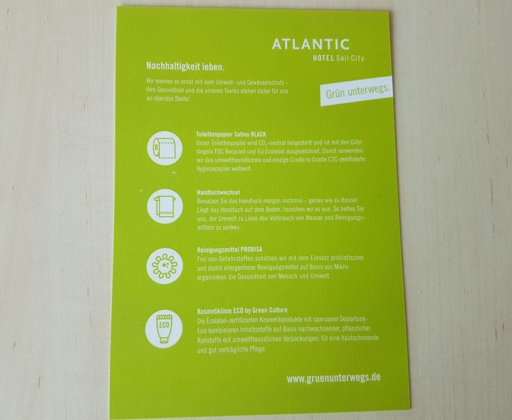 "Das Atlantic Hotel Sail City ist ""grün"" unterwegs (c) Tanja Albert"