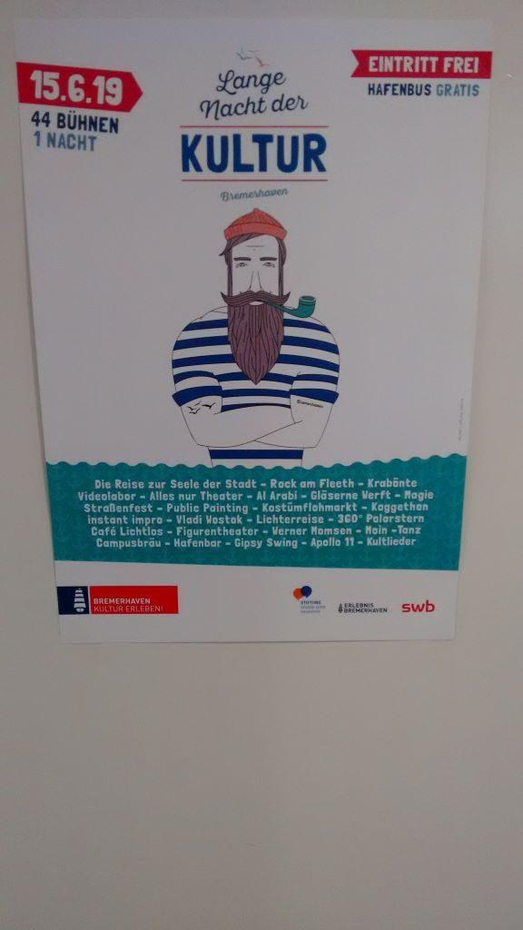 Ein Poster zur Ankündigung der Langen Nacht der Kultur