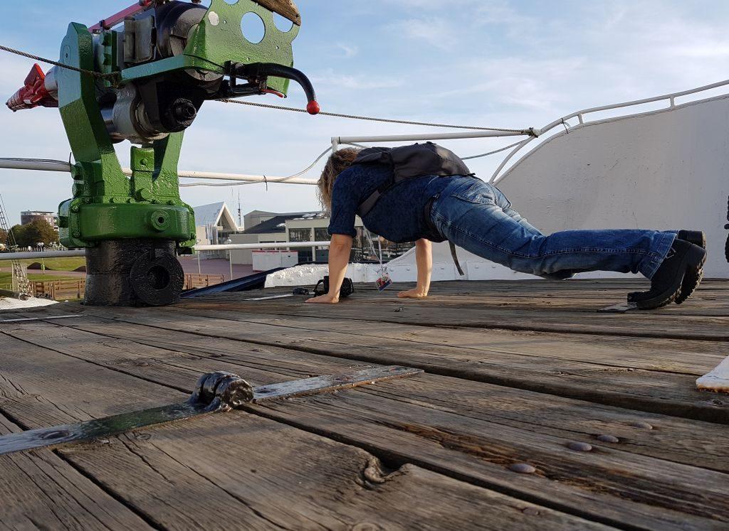 """Fitness an Bord der """"Rau X"""" beim InstaWalk (c) Tanja Albert"""