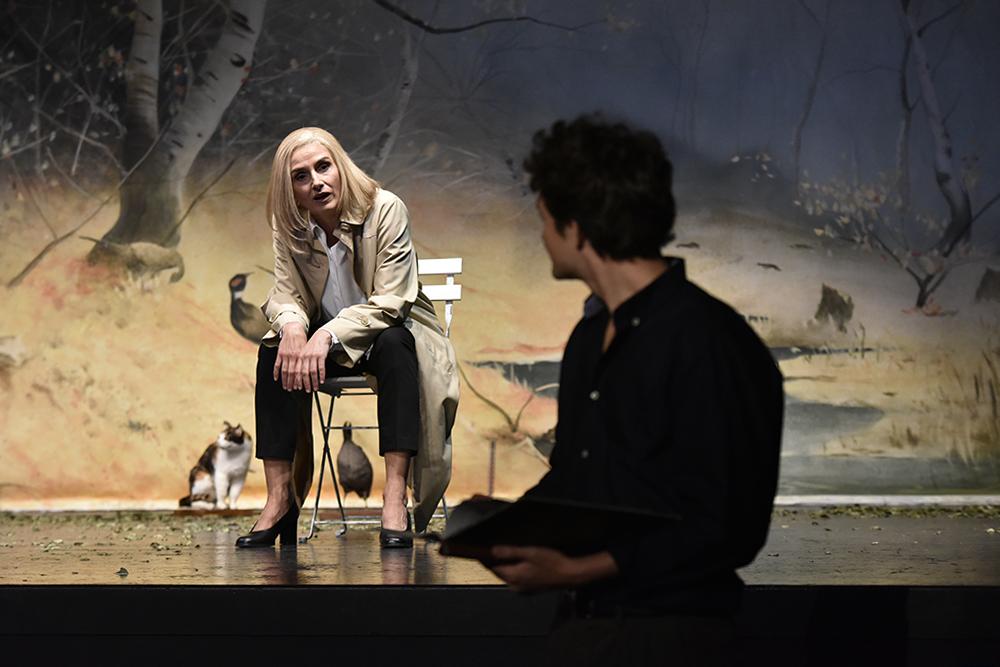 Probenfoto von Sascha Maria Icks und Max Roenneberg in: Ich, Feuerbach am Stadttheater Bremerhaven