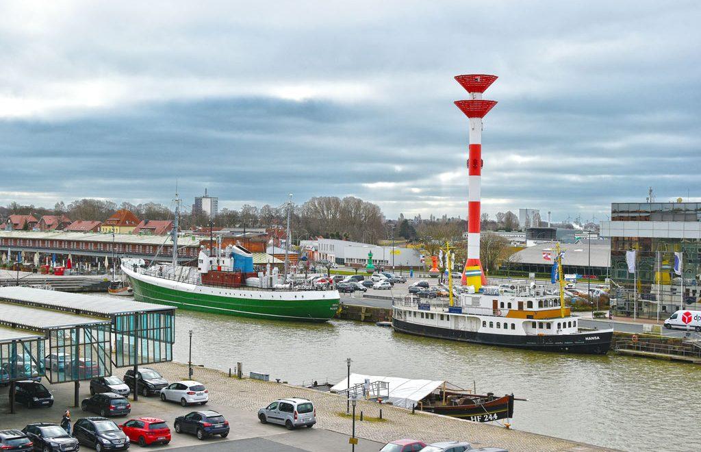 Blick auf den Fischereihafen Bremerhaven