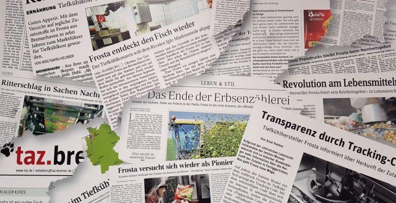Presseberichte über das FRoSTA Reinheitsgebot (c) Tanja Albert