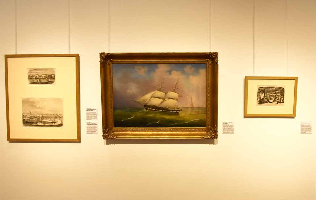 Gemälde der Brigg JOHANN im Historischen Museum Bremerhaven (c) Historisches Museum Bremerhaven