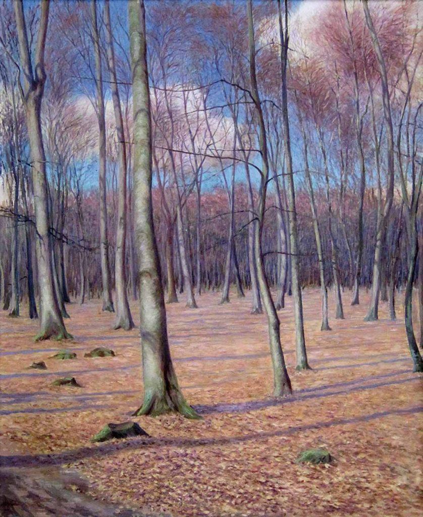 """Gemälde """"Buchenwald bei Drangstedt"""" von Hans Kohnert (c) Historisches Museum Bremerhaven"""