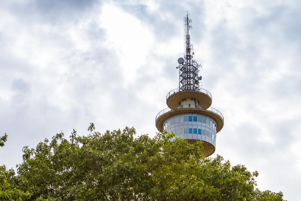 Blick auf den Radarturm