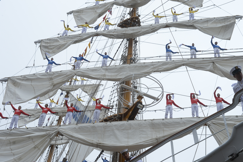 Seeleute in den Rahen