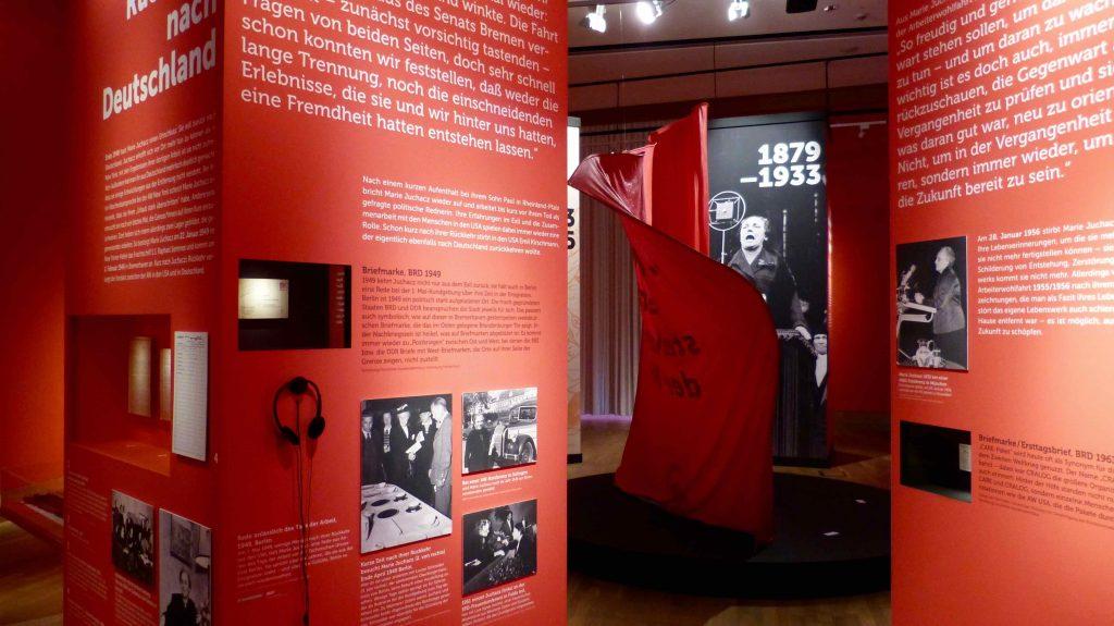 Ansicht der Sonderausstellung über Marie Juchacz im Deutschen Auswandererhaus Bremerhaven