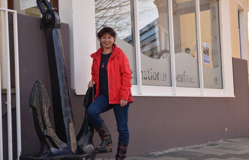 Ich stehe vor dem Seemannsheim (c) Andreas Larmann