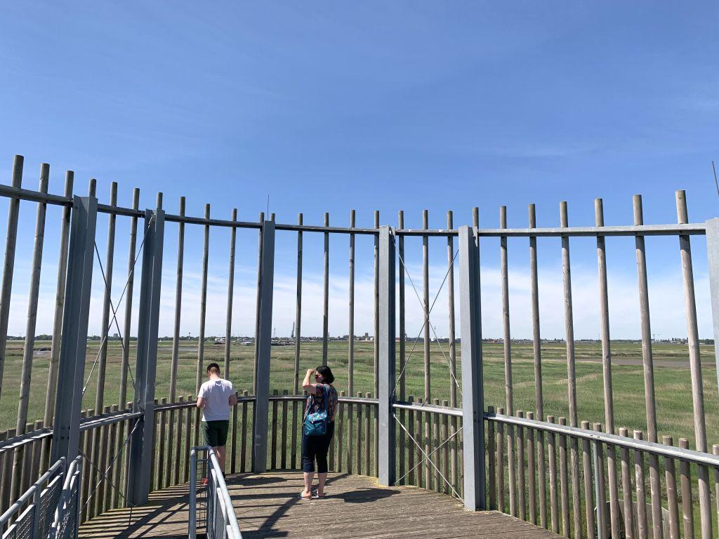 Aussichtsturm auf Luneplate in Breemrhaven
