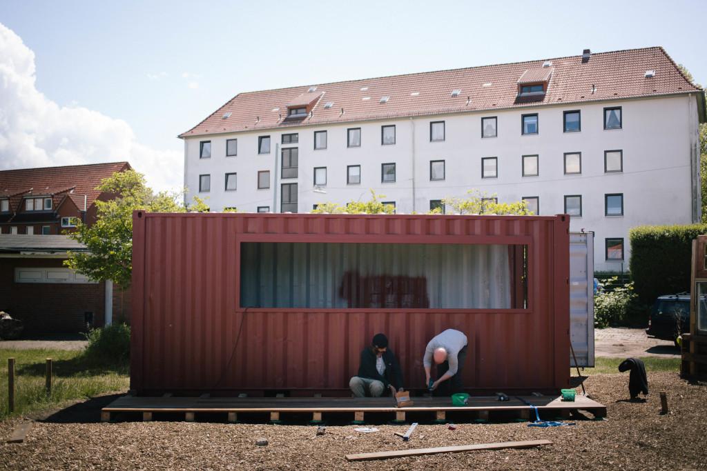 Der Container steht! (c) M.Alber