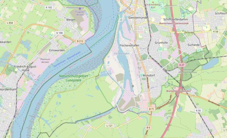(c) openstreetmap.org - Luneplate, Bremerhaven