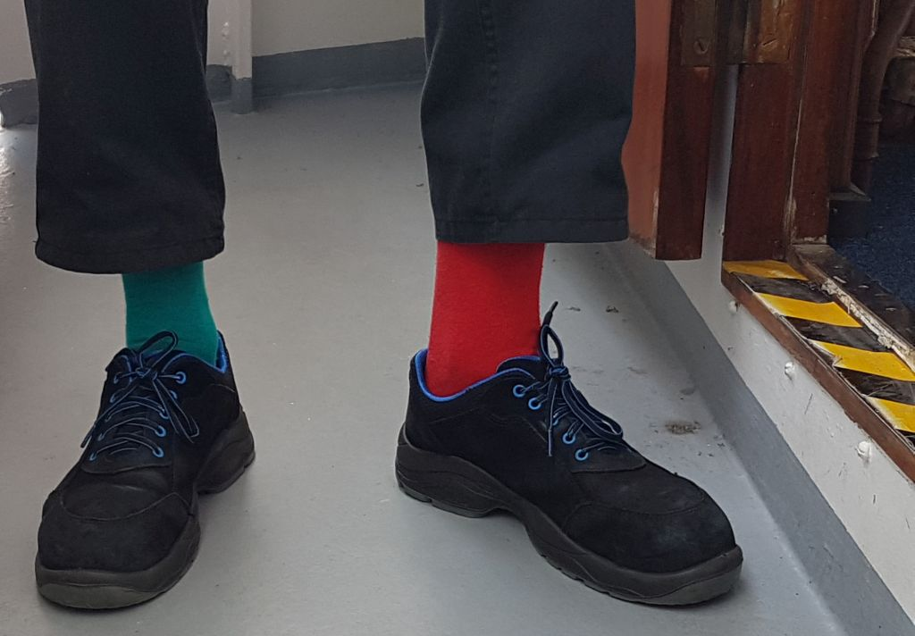 Grün-rote Socken (c) Tanja Albert