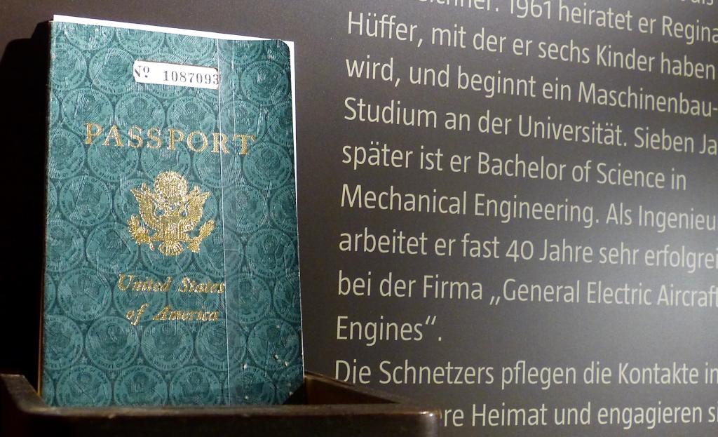 US-amerikanischer Pass von Manfred Schnetzer