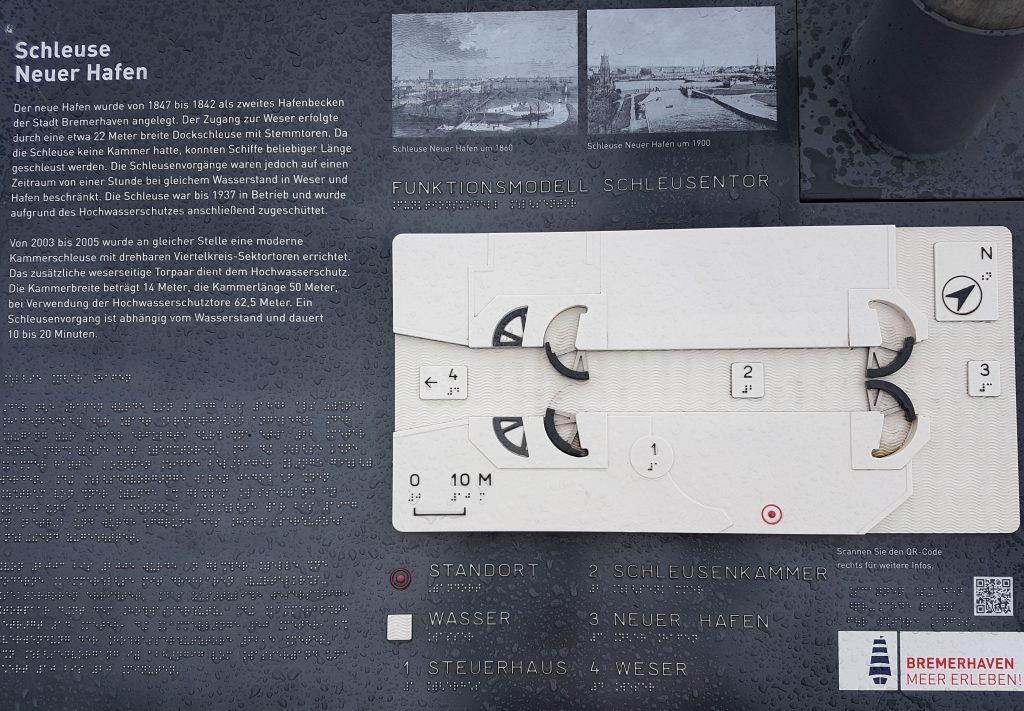 Modell von der Schleuse Neuer Hafen (c) Tanja Albert