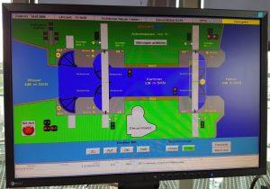 Monitoranzeige der Schleuse Neuer Hafen (c) Tanja Albert