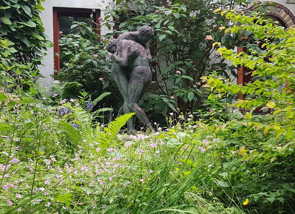 Skulptur Ringer in Thieles Garten (c) Tanja Albert