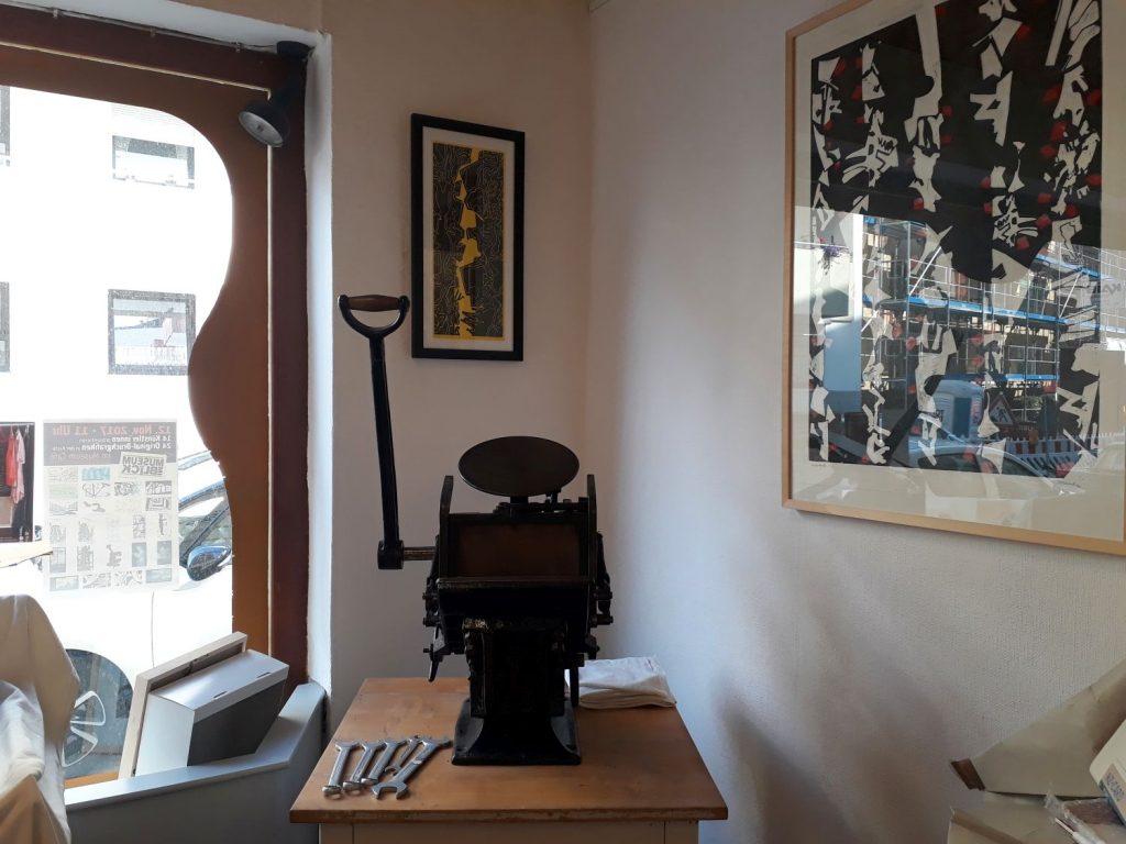 Alte Druckerpresse im Atelier Abdrift (c) Tanja Albert