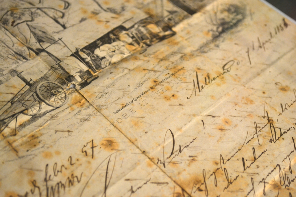 Alter Brief von1856 als Melbourne