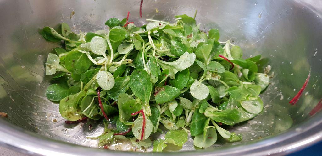 Blattsalat für Fischrezept