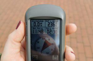 Das GPS-Gerät, mit dem die Tour durchgeführt wird.