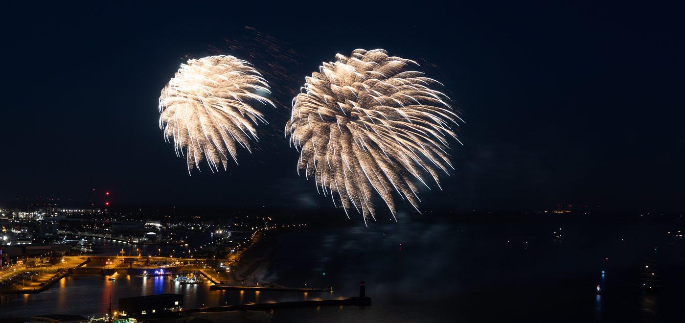 Feuerwerk über Bremerhaven