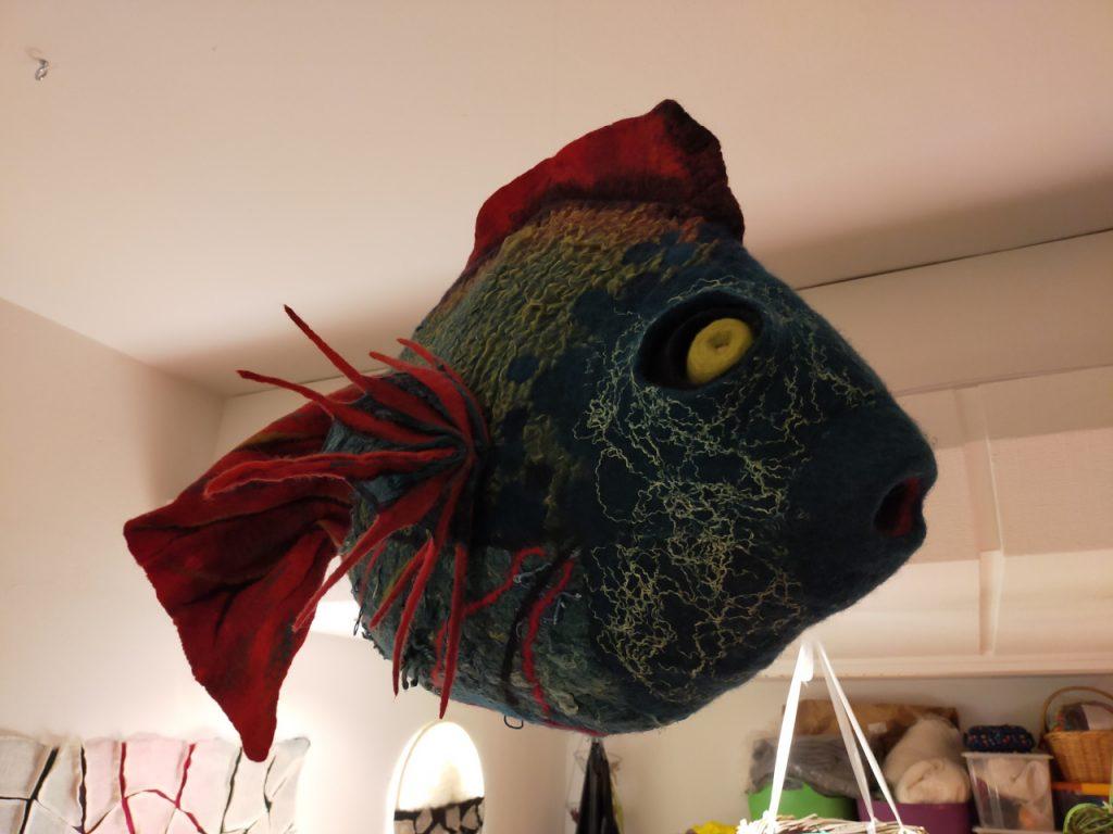 ein Fisch aus Filz