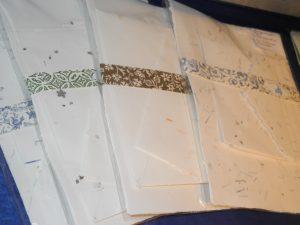 Hangeschöpftes Briefpapier