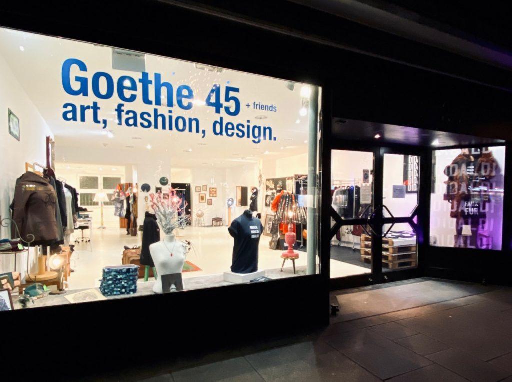 Außenansicht des Stores der Goethe 45