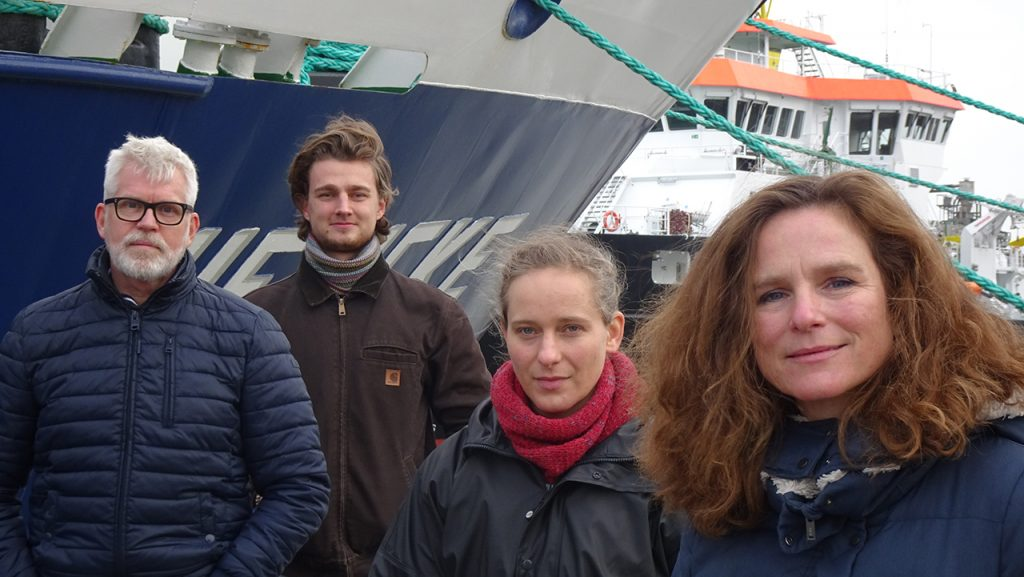 Das Sprecher*innen-Team (v.l.n.r.): Richard Gonlag, Victor Natus, Margarita Wiesner und Michaela Hinnenthal