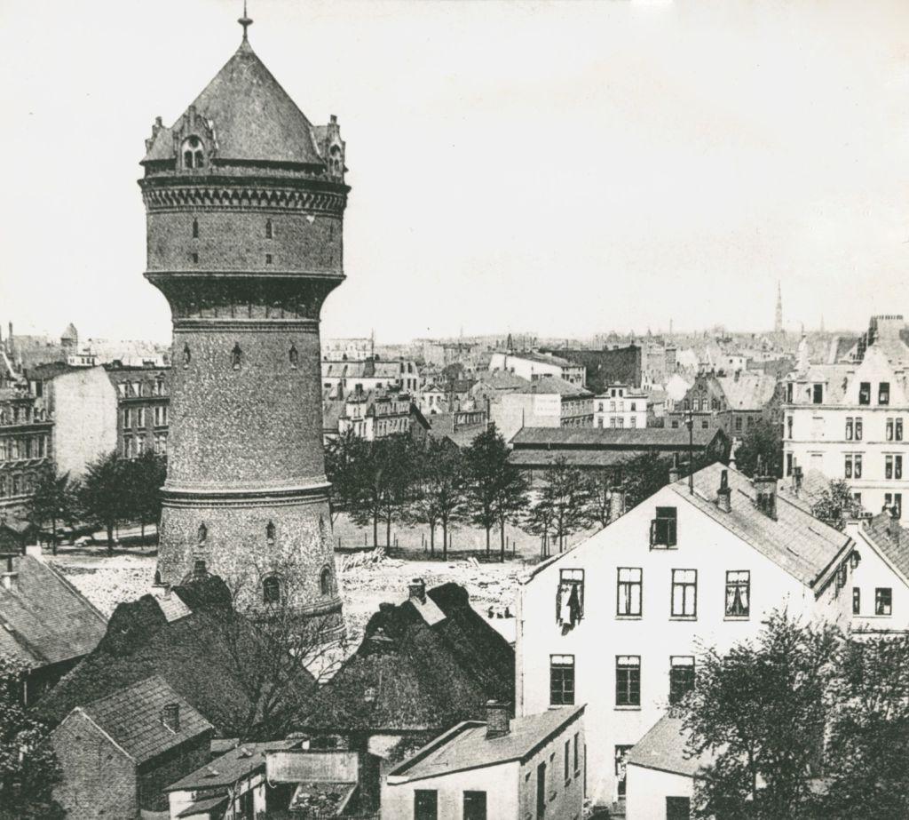 Historisches Foto vom Wasserturm Geestemünde und Umgebung (c) Archiv Historisches Museum Bremerhaven