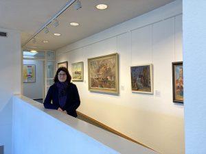 Kerstin Ras-Dürschner in der Dauerausstellung