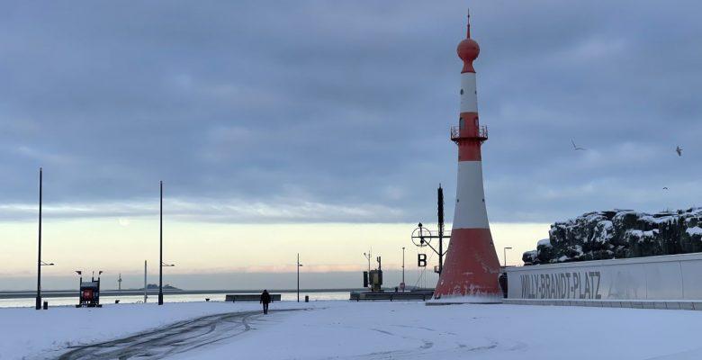 Bremerhaven schnee Leuchtturm