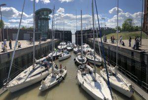 Schleuse Neuer Hafen Sportboote (c) Mailin Knoke