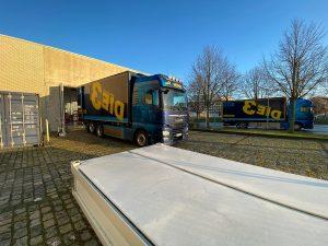 Direkt mehrere LKWs wurden gebraucht, um die Exponate von Stralsund in das Museum nach Bremerhaven zu bringen.