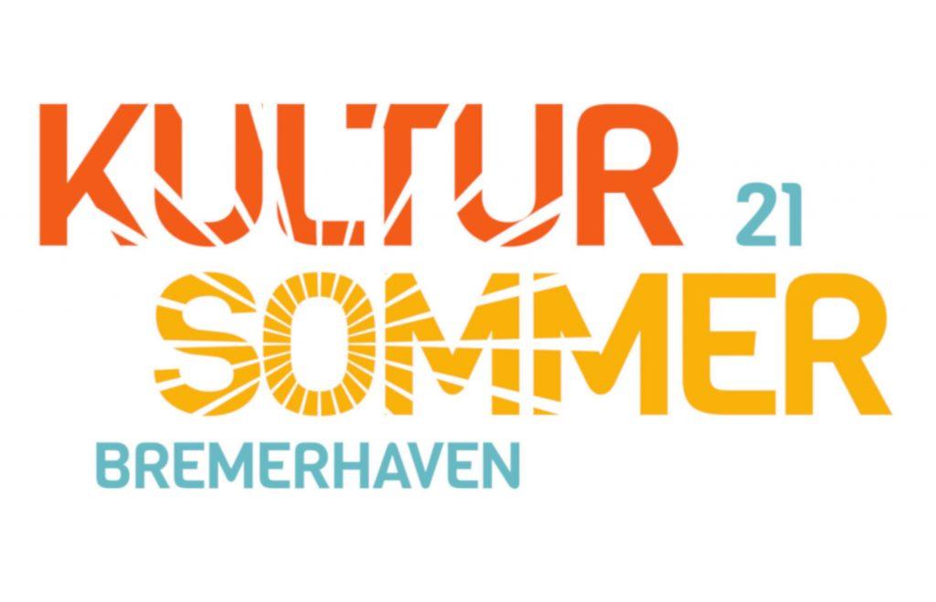Es steht Kultursommer 21 Bremerhaven in Gelb, Orange und Türkis