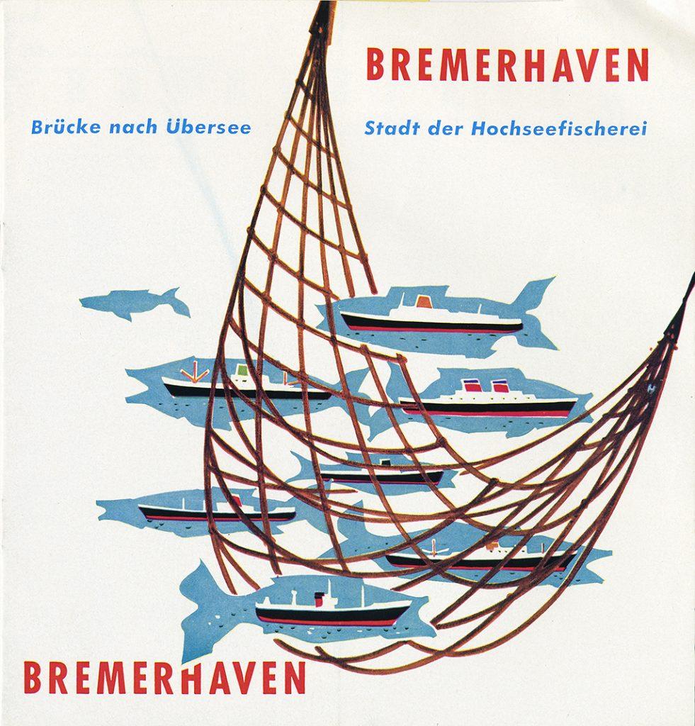 Titelbild eines Werbeprospekts aus dem Jahr 1950. © Historisches Museum Bremerhaven