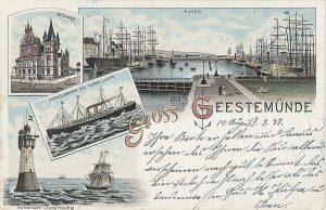 Ansichtskarte von Geestemünde um 1897 © Historisches Museum Bremerhaven